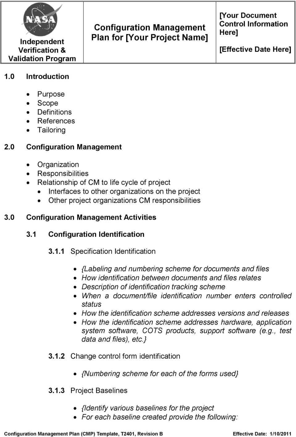 Configuration Management Plan (CMP) Template - PDF