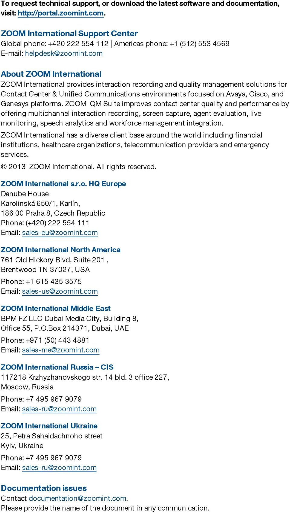 ZOOM Quality Management Suite 5 1 CallREC User Guide - PDF