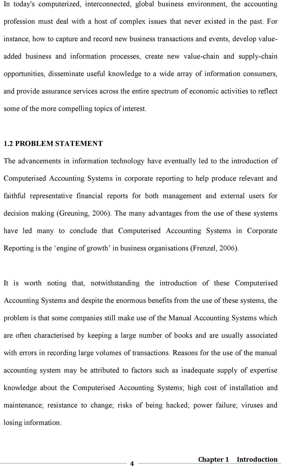 impact of computerized accounting system on financial reporting