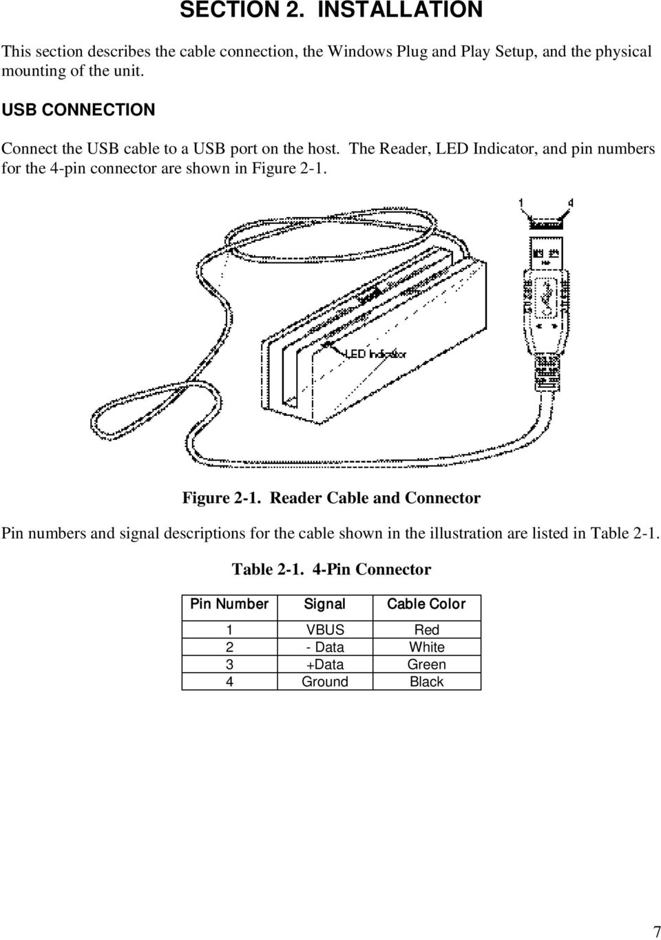 Usb Kb Sureswipe Swipe Reader Technical Reference Manual Pdf Wiring Red White Black Green Connection Connect The Cable To A Port On Host