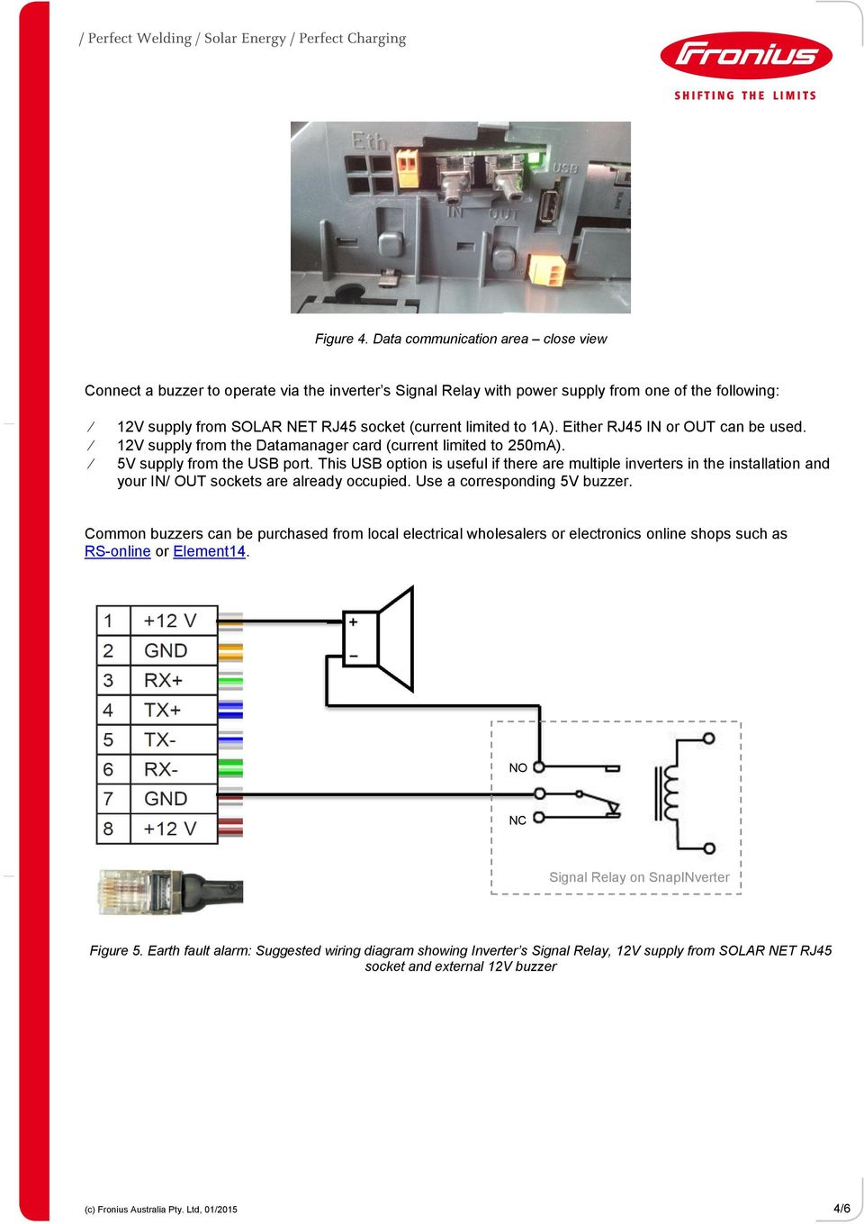 How to set up earth fault alarm on fronius inverters pdf 1a either rj45 in or out can be used 12v supply from the cheapraybanclubmaster Choice Image