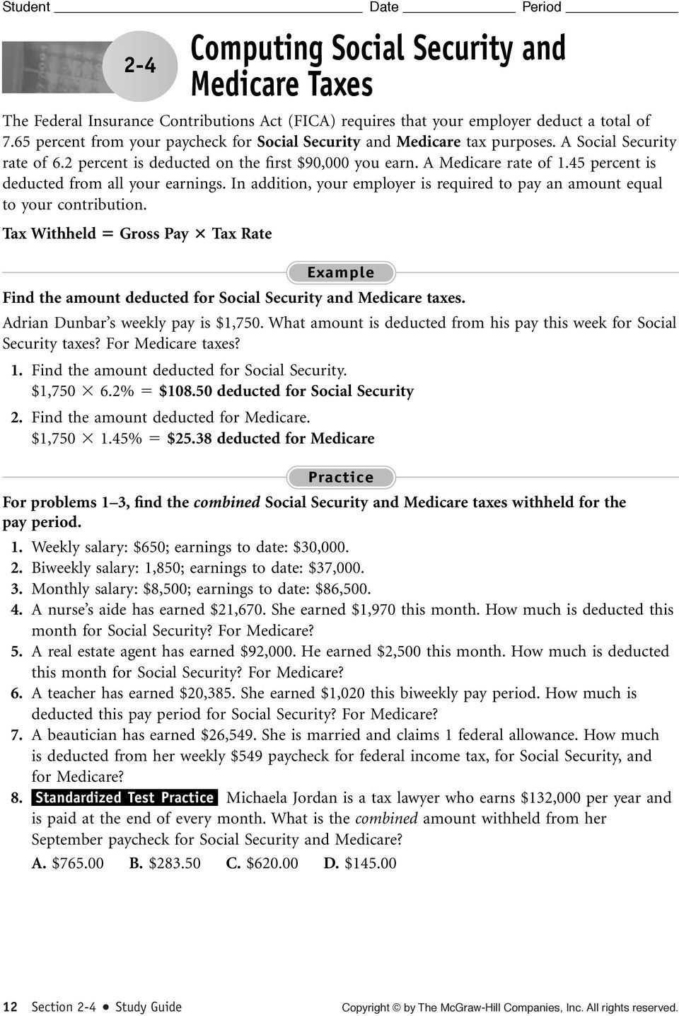 Calculating Straight-Time Pay - PDF