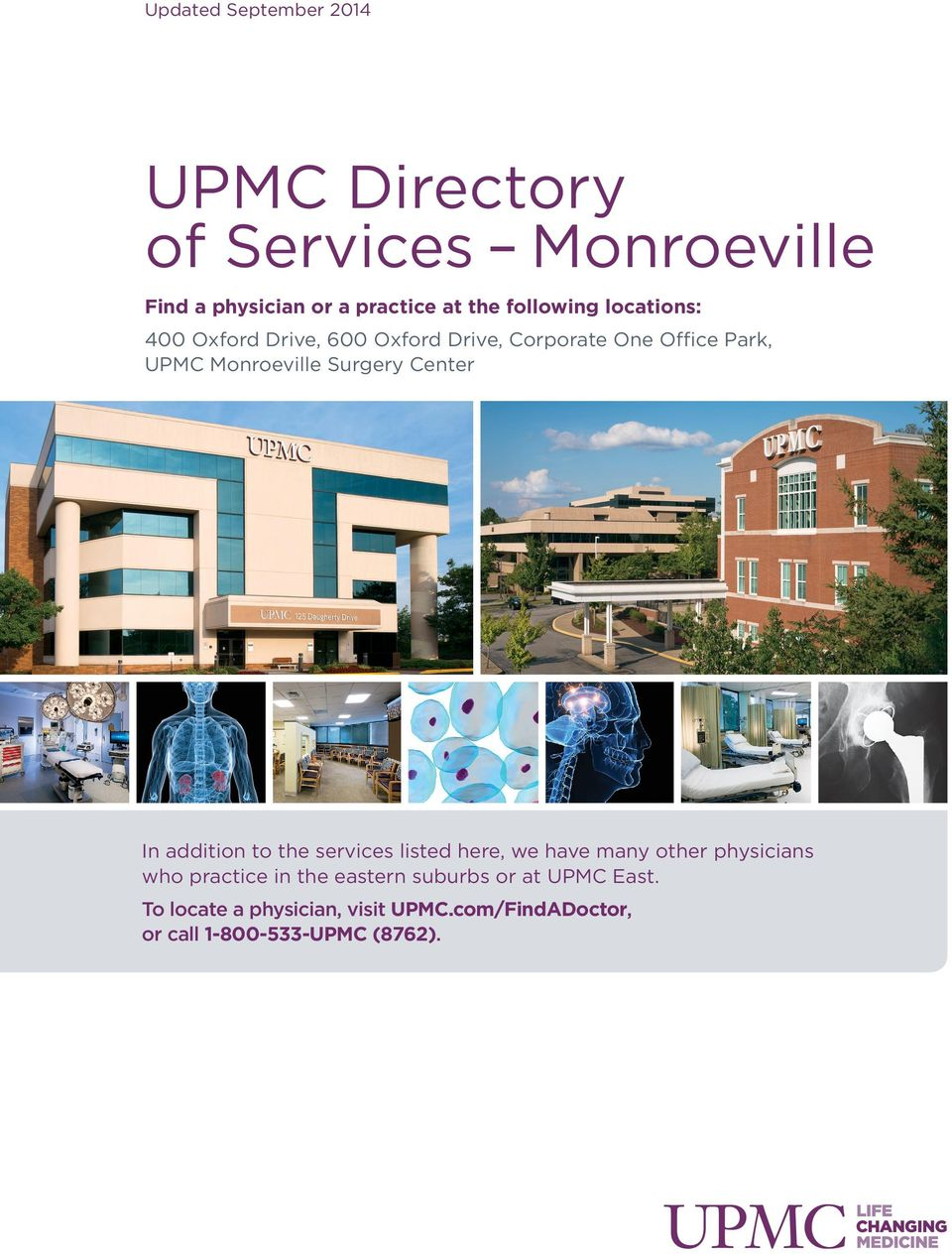 UPMC Directory of Services Monroeville - PDF