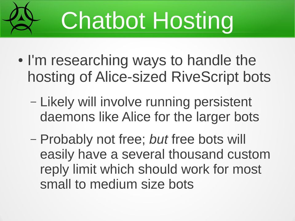 Chatbots 3 3  Chatbots in Web Applications with RiveScript