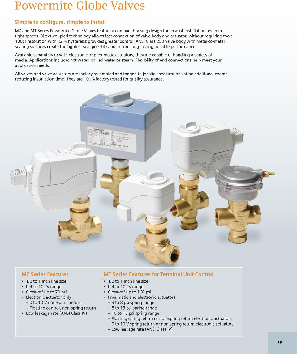 Siemen Actuators Valve Wiring Diagram 289 Worksheet And 2012 Actuator Catalog For New Construction Or Rh Docplayer Net