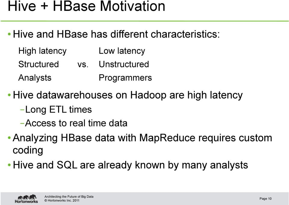 Integration of Apache Hive and HBase - PDF