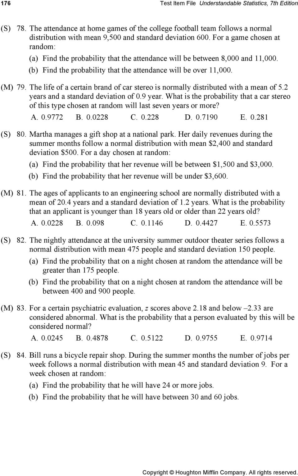 Chapter 6 Normal Distributions Pdf
