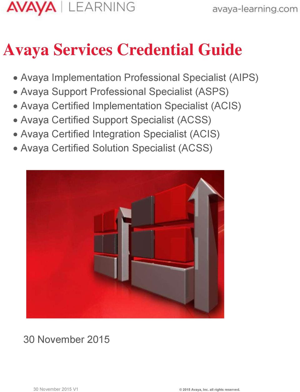 Certified Support Specialist (ACSS) Avaya Certified Integration Specialist (ACIS) Avaya