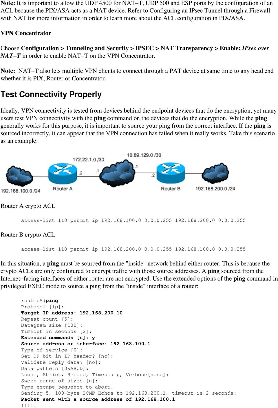 Most Common L2L and Remote Access IPsec VPN Troubleshooting