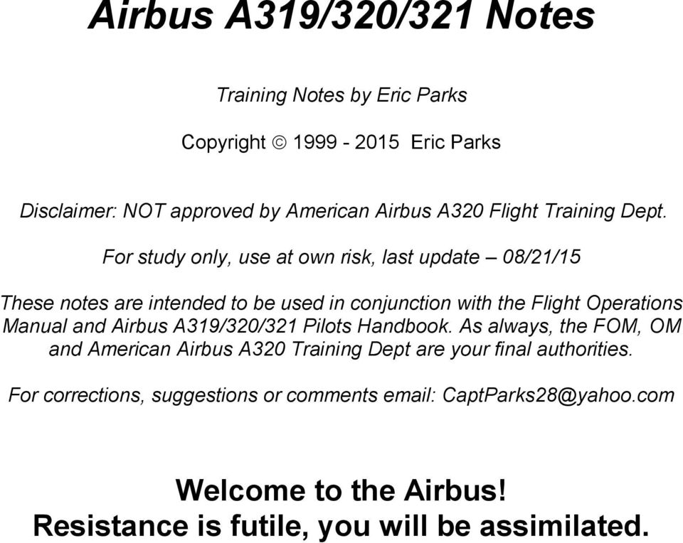 airbus a319 320 321 notes pdf