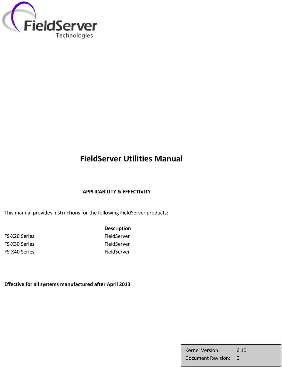 Fieldserver Utilities Manual Pdf Wiring Diagram Effective For All Systems Manufactured After April 2013 The Instructions Are 2