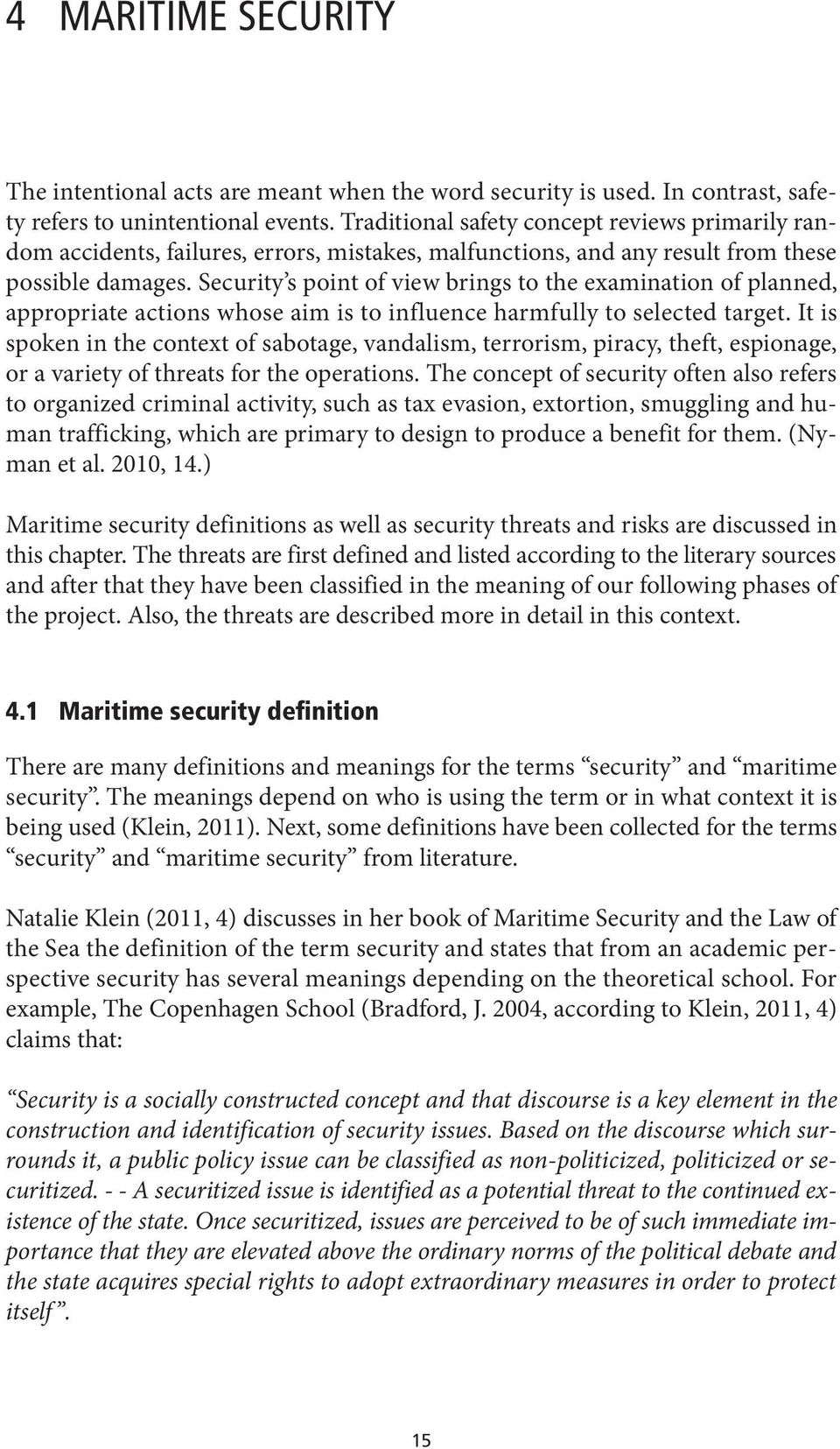 Maritime safety and security Literature review - PDF