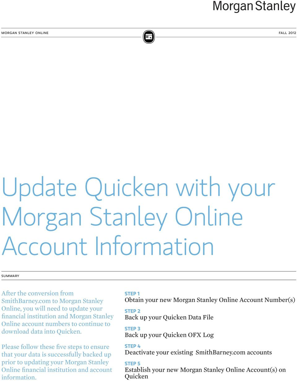 Prime Update Quicken With Your Morgan Stanley Online Account Beutiful Home Inspiration Aditmahrainfo
