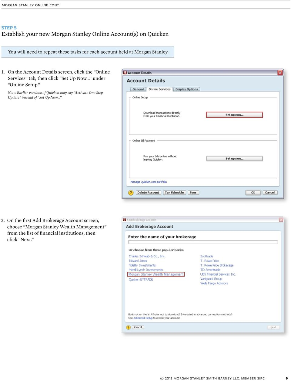 Enjoyable Update Quicken With Your Morgan Stanley Online Account Beutiful Home Inspiration Aditmahrainfo