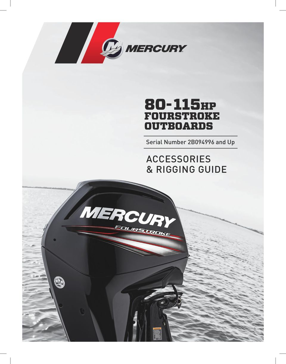 2 Mercury 80 through 115 EFI FourStroke CONTROLS & RIGGING REMOTE CONTROLS  and THROTTLE & SHIFT CABLES MSC 4000 Side Mount Gen I T/S Cables w/ ...