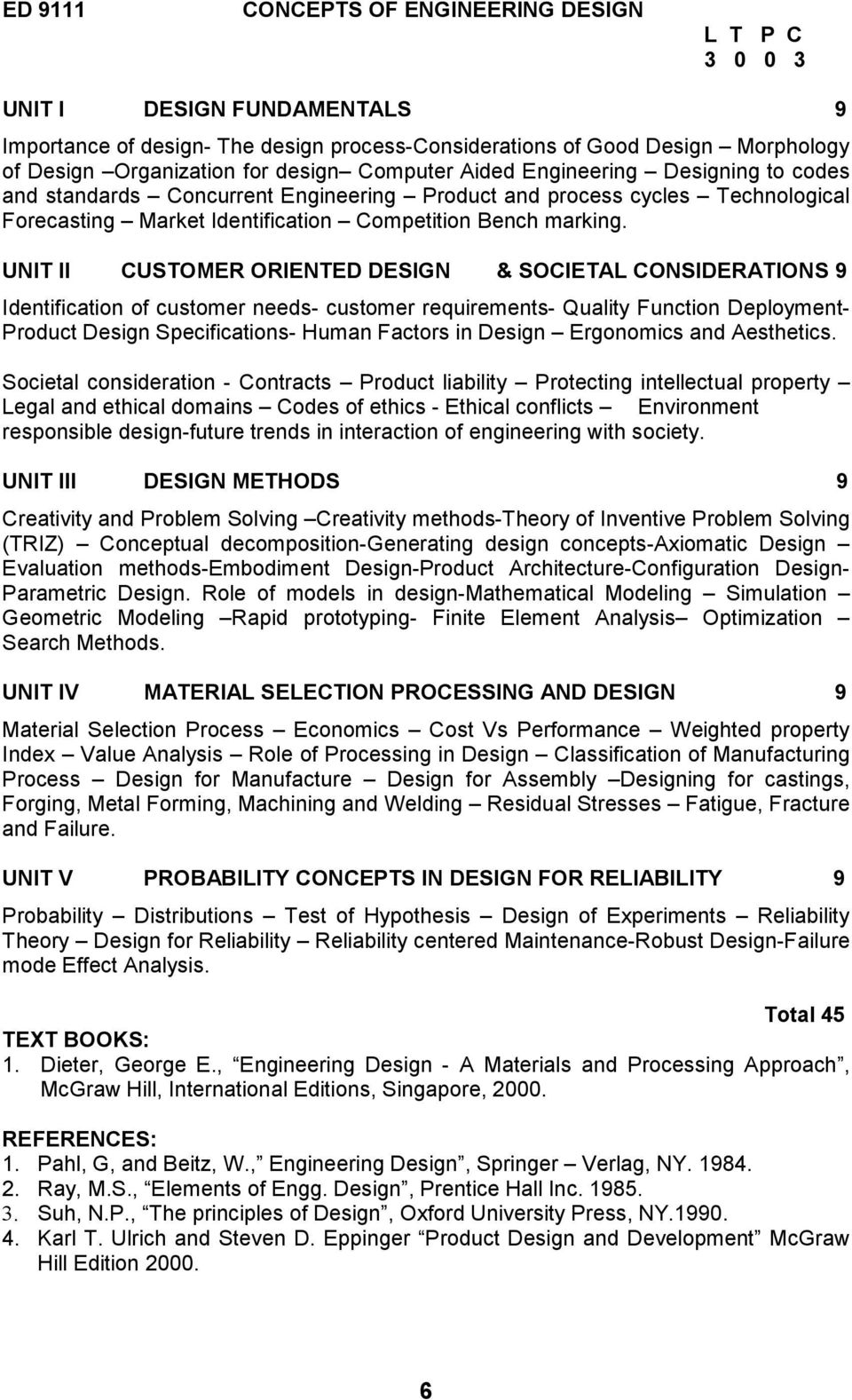 University Departments M E Product Design Development Pdf Free Download