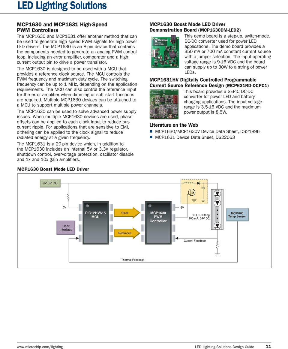 Adding Intelligence To Lighting Applications Pdf Boost Led Driver For Hb Leds