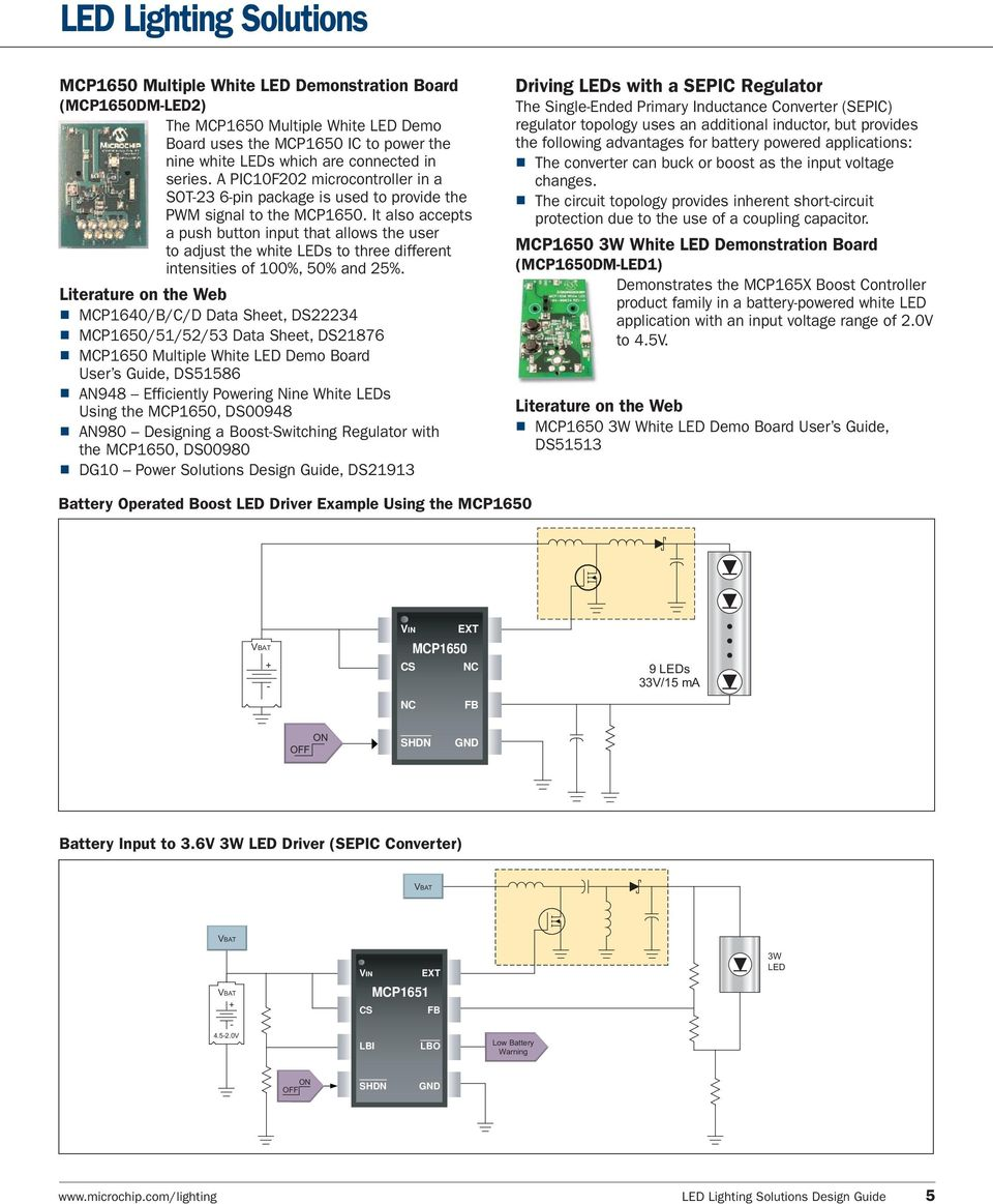 Adding Intelligence To Lighting Applications Pdf White Led Driver Circuit Diagram Hi Watt It Also Accepts A Push Button Input That Allows The User Adjust Leds 6 High Efficiency Smart