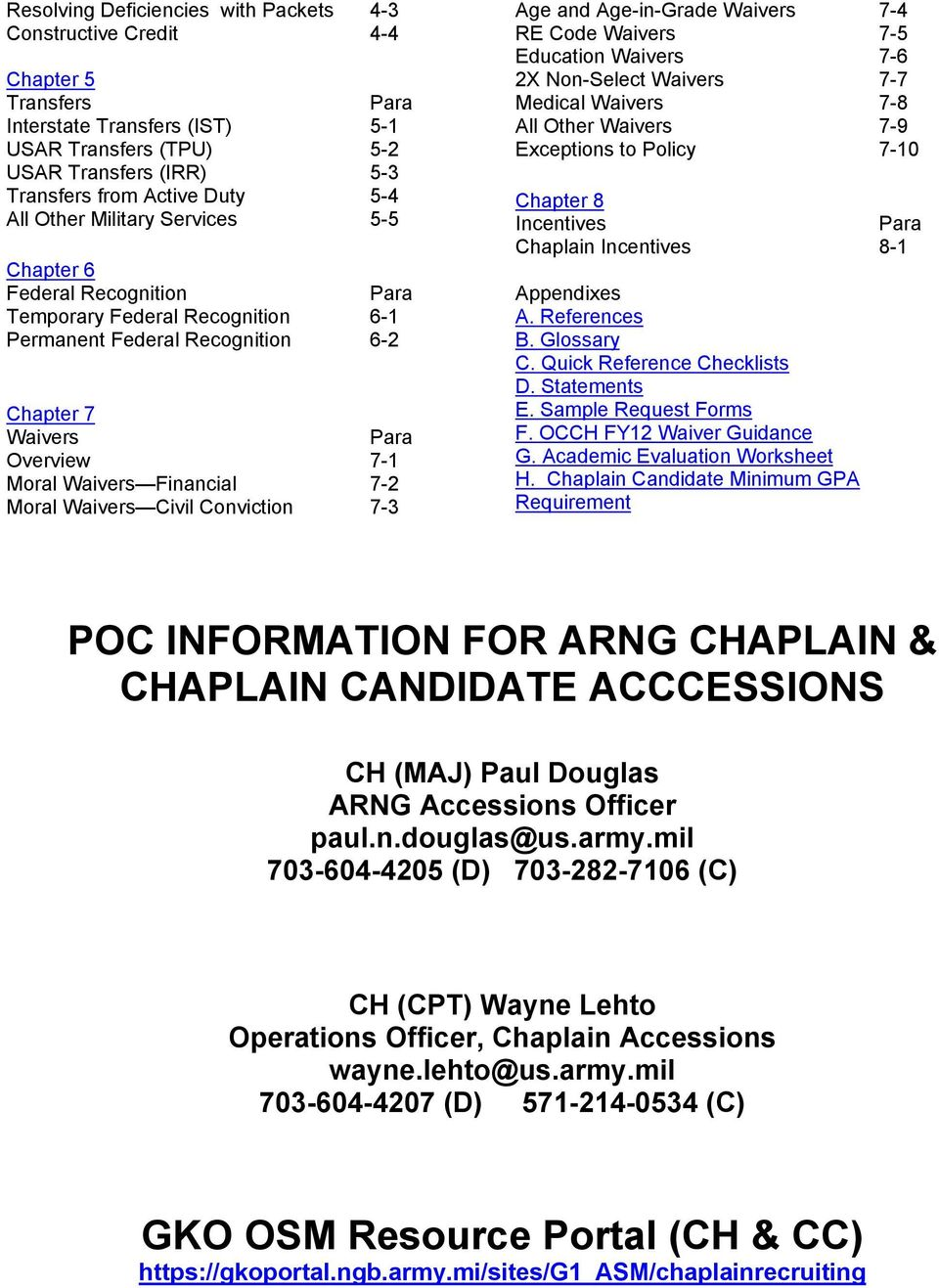Fy12 army national guard standard operating procedures for chaplain 7 2 moral waivers civil conviction 7 3 age and age in altavistaventures Choice Image