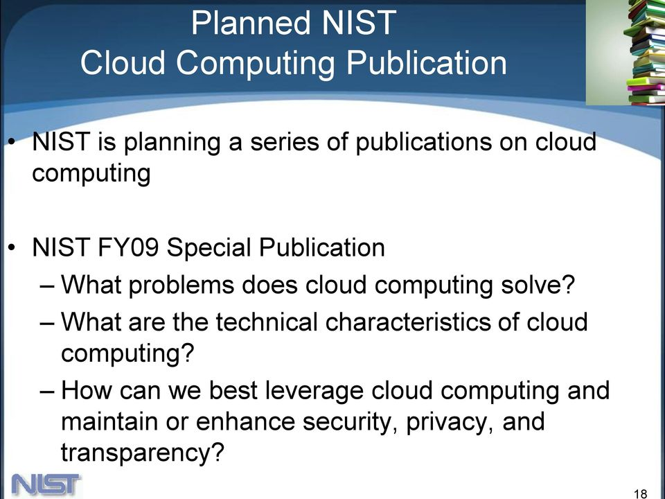 cloud computing solve? What are the technical characteristics of cloud computing?