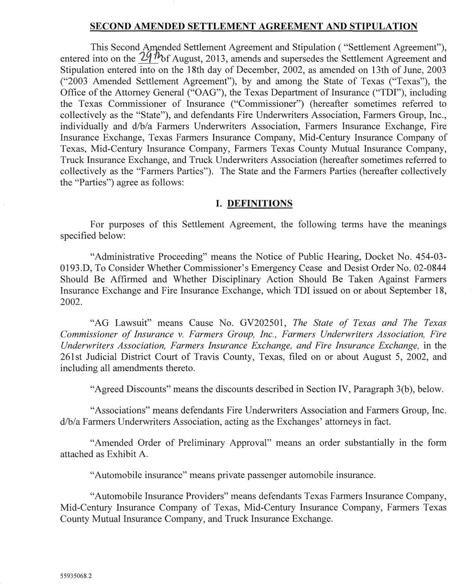 Second Amended Settlement Agreement And Stipulation Pdf Free Download