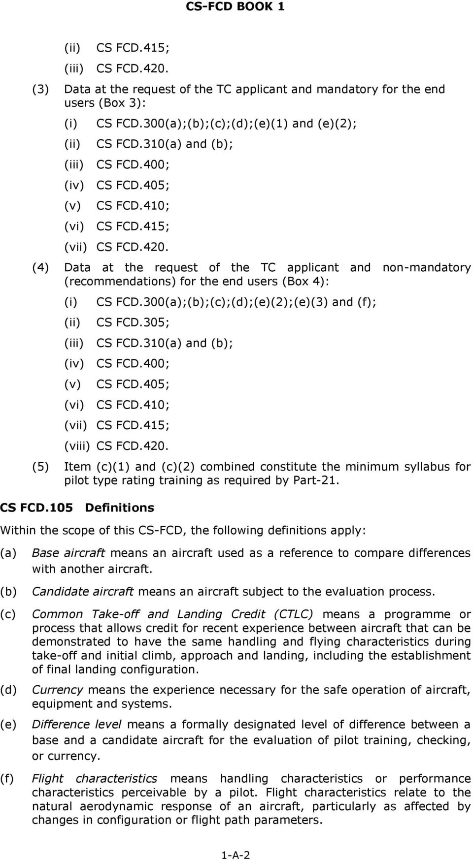 Certification Specifications for Operational Suitability Data (OSD