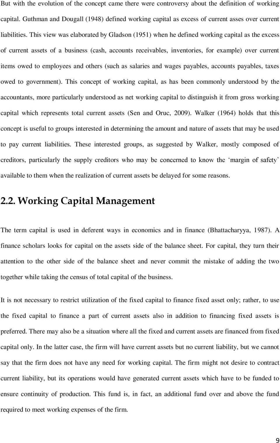 the effect of working capital policies management on firms