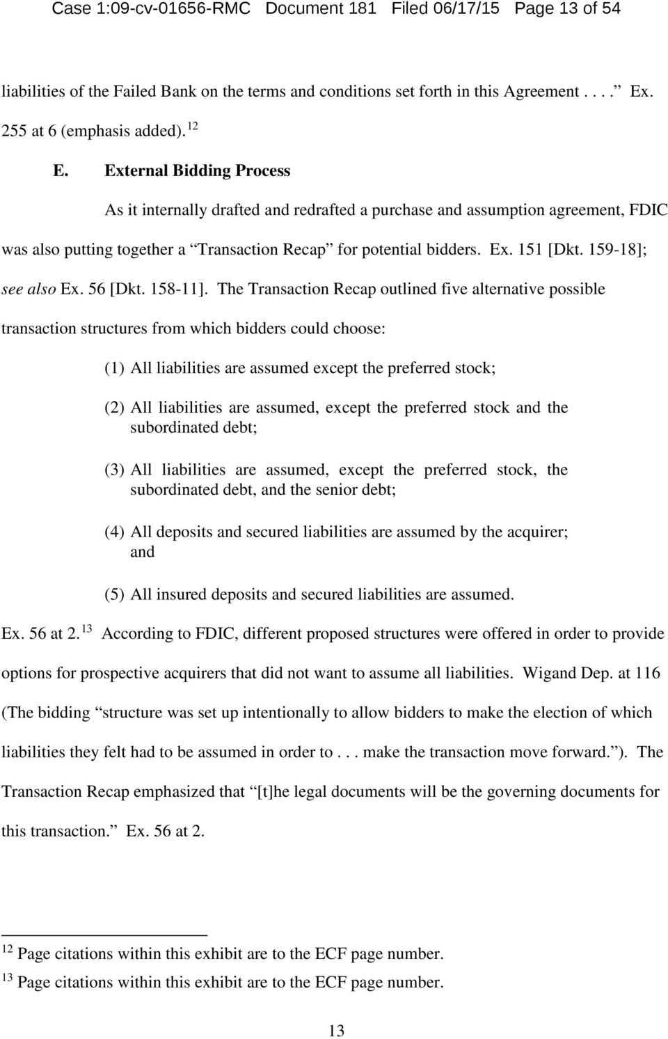 Case 1 09 Cv Rmc Document 181 Filed 06 17 15 Page 1 Of 54 United