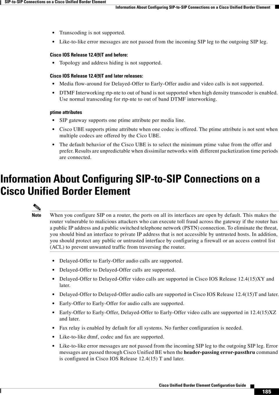 SIP-to-SIP Connections on a Cisco Unified Border Element - PDF