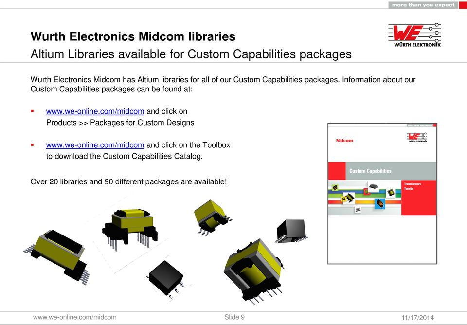 Wurth Electronics Midcom Altium Library Training Module
