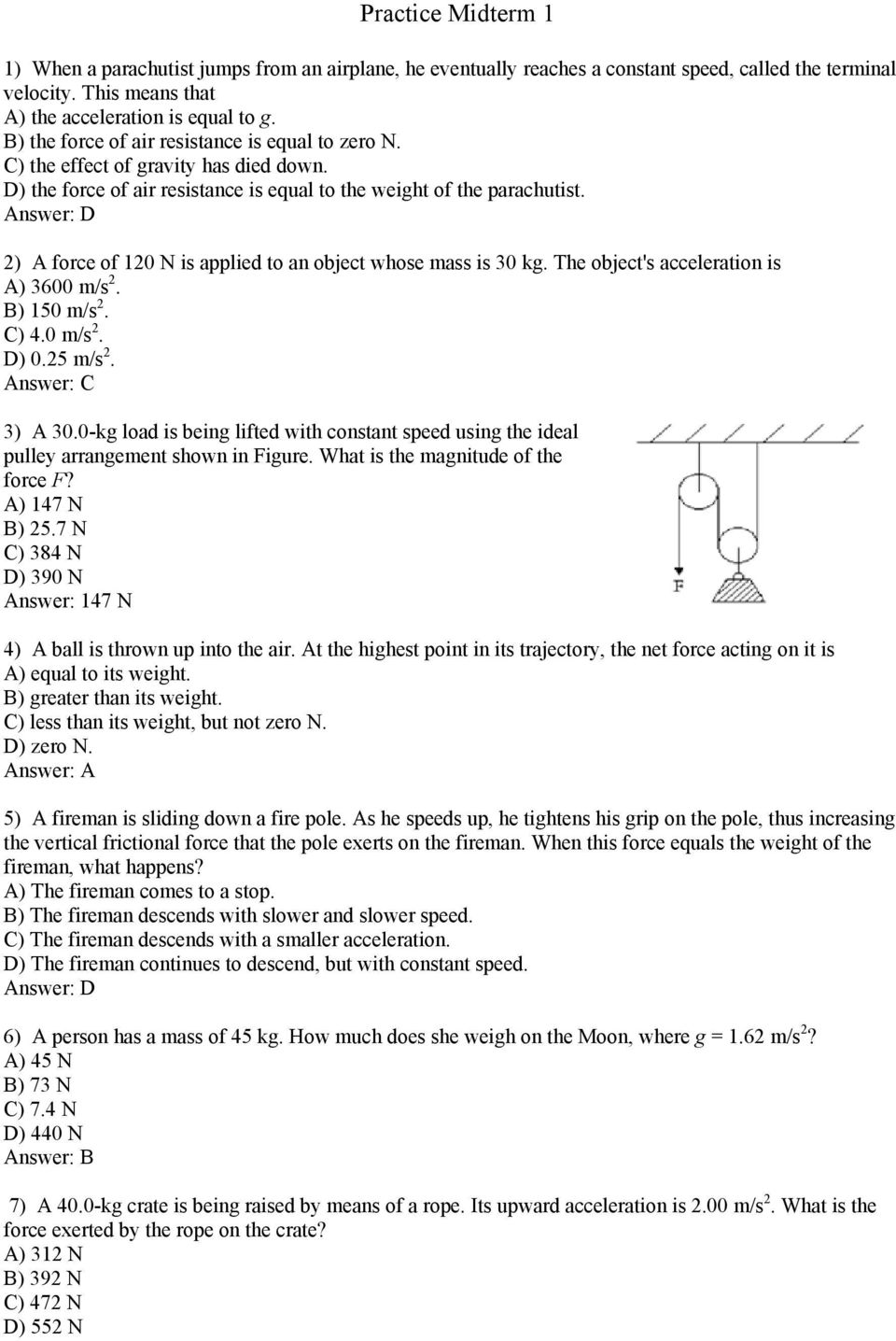 pearson prentice hall answer key newtons laws