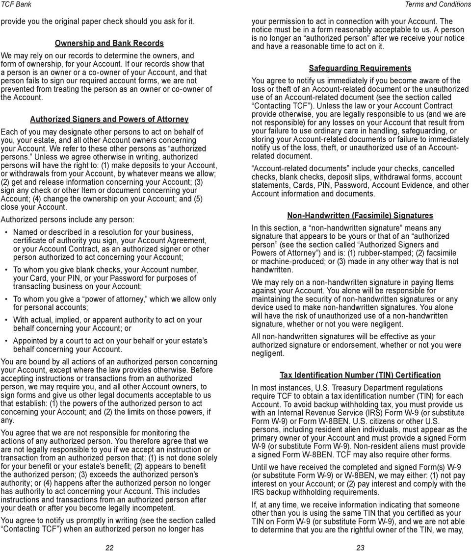 Terms and Conditions for Checking and Savings Accounts - PDF
