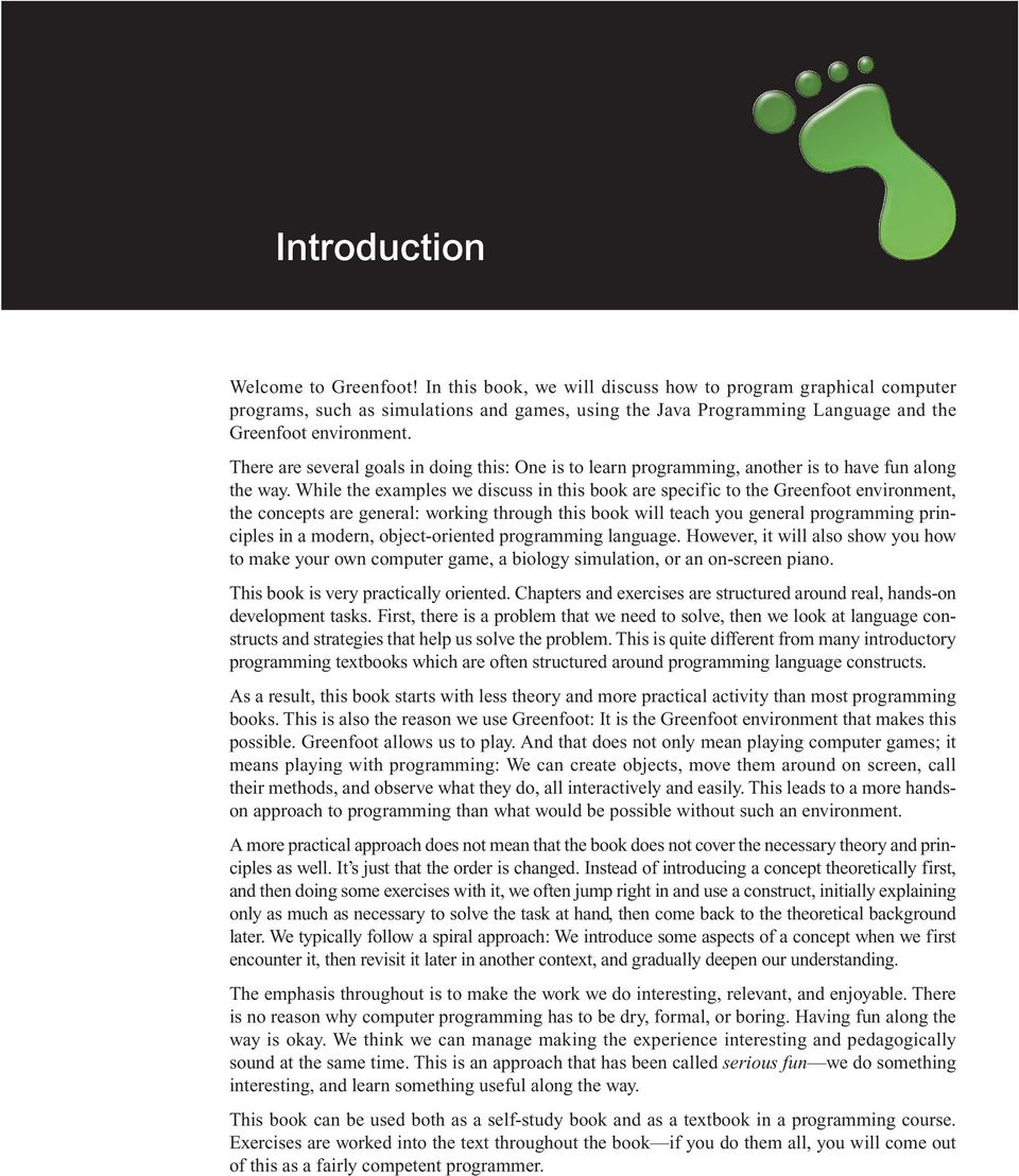 Introduction to Programming with Greenfoot - PDF