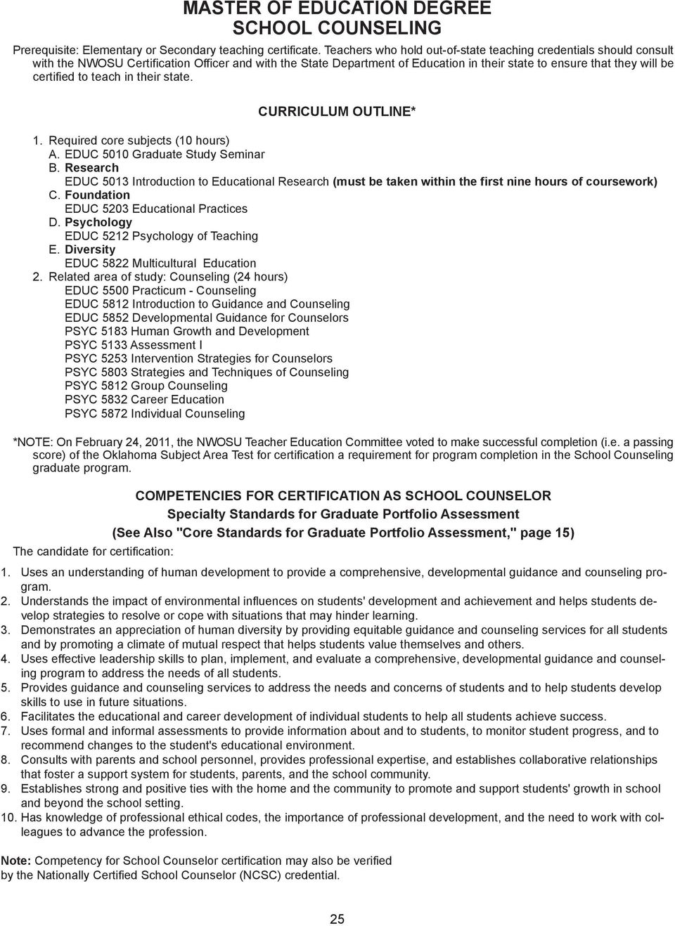 Section 5 Master Of Education Degree Pdf