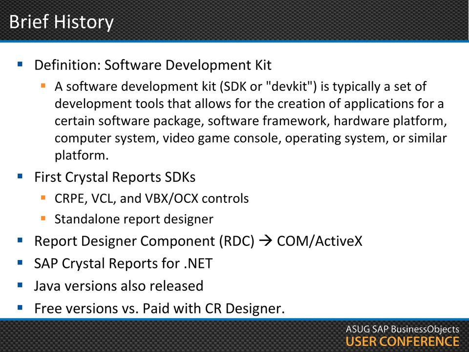 SAP Crystal Reports SDK Adding Reporting to Your Custom