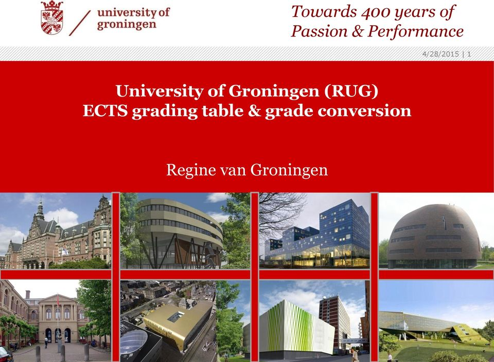ECTS grading table & grade