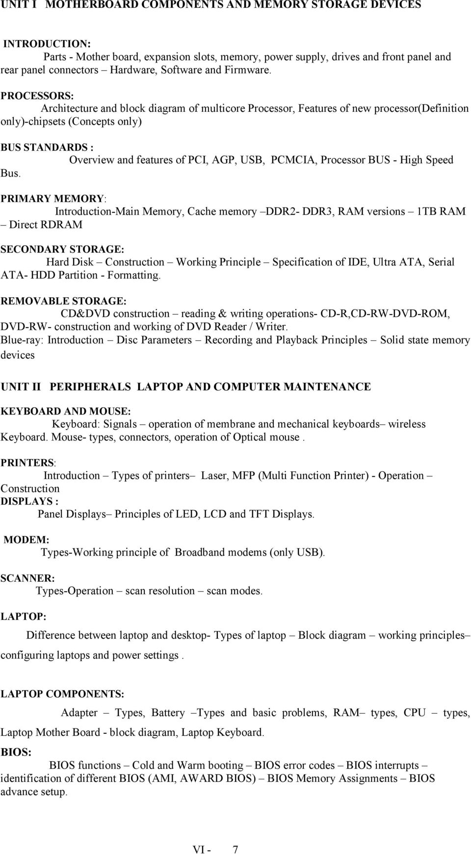 TERM PROGRAMME HOURS/WEEK TOTAL HOURS  Diploma in
