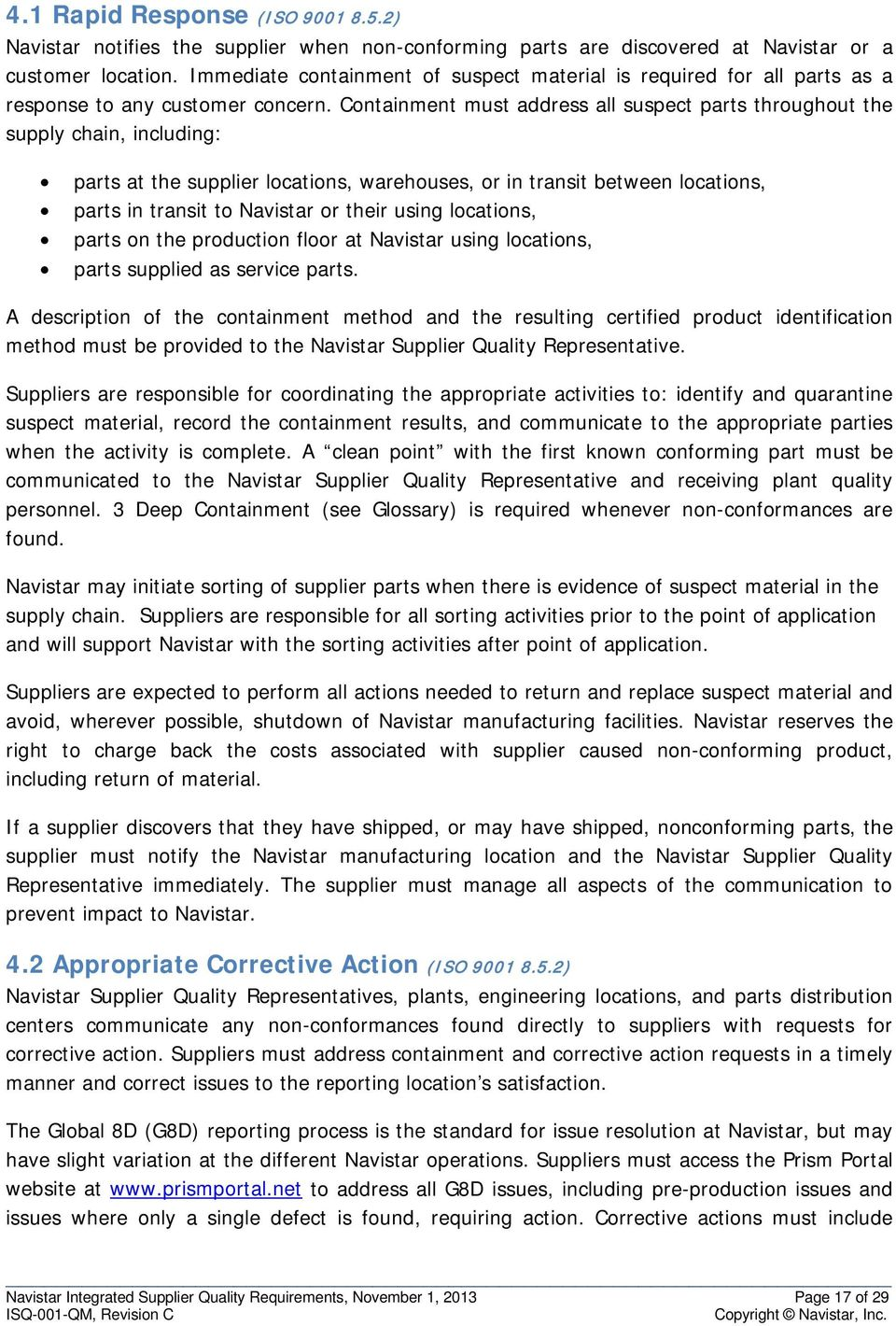 Integrated Supplier Quality Requirements - PDF