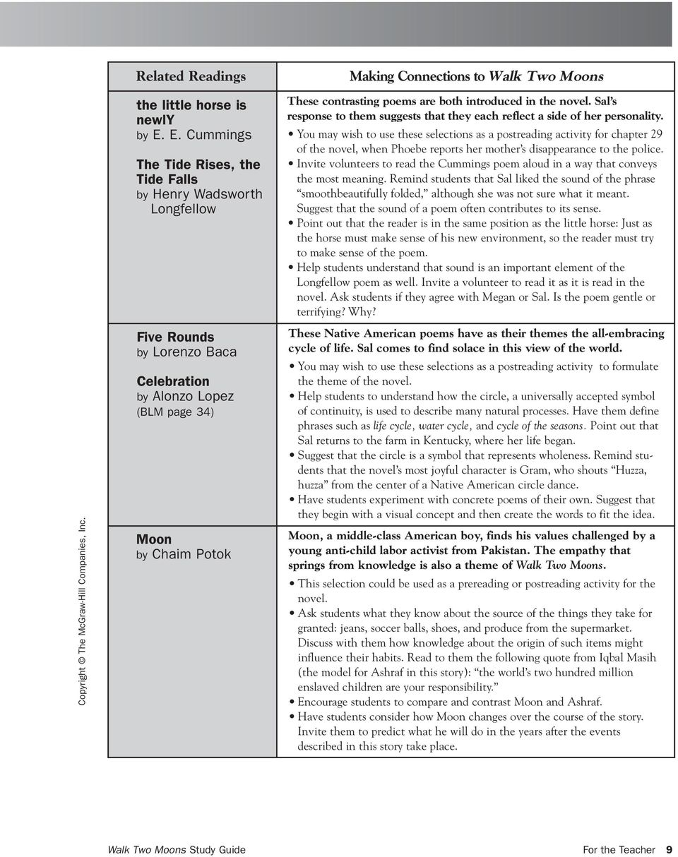 Walk-two-moons-worksheets & Walk Two Moons Composition Unit Plan ...