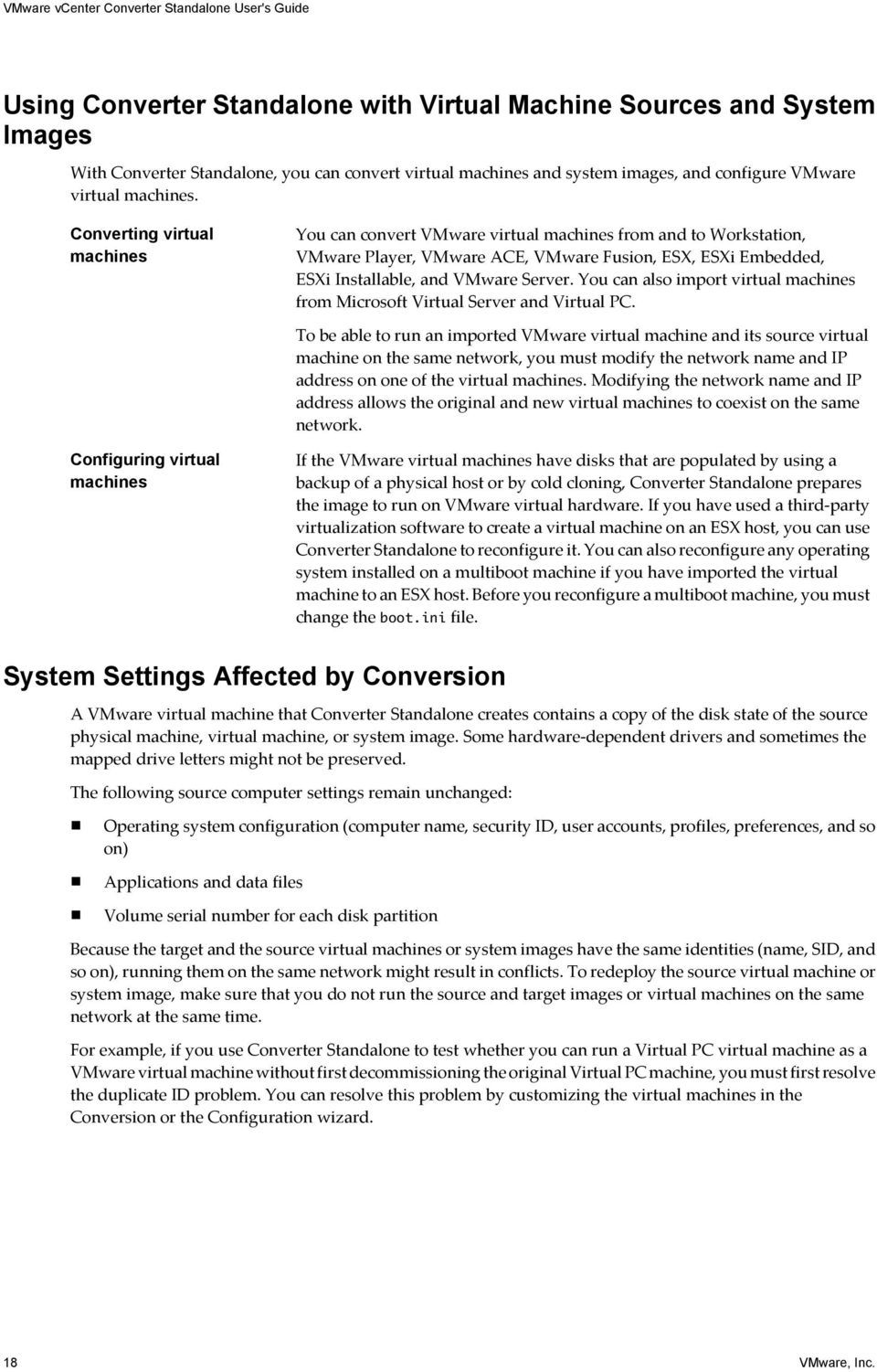 VMware vcenter Converter Standalone User's Guide - PDF