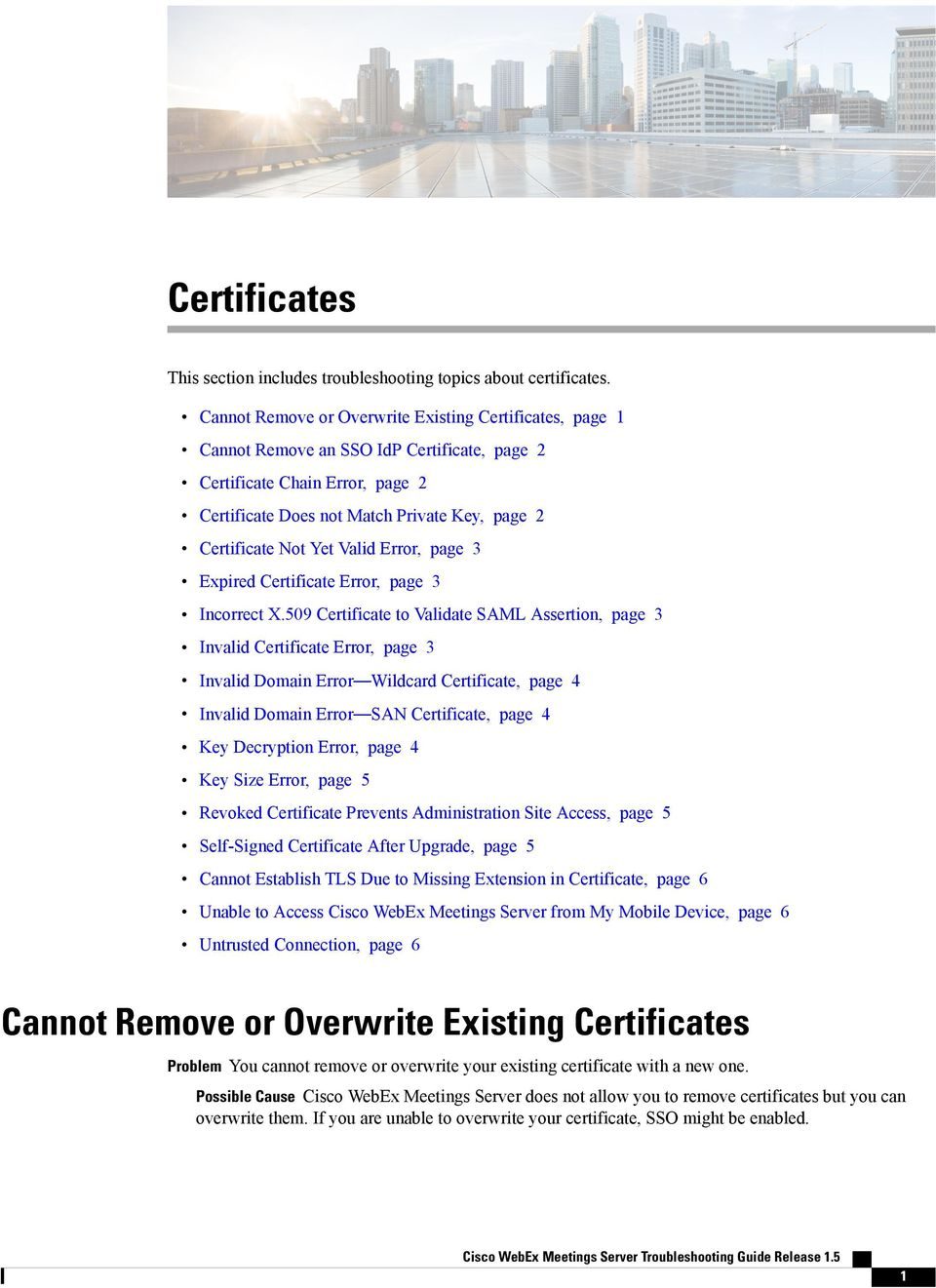 This Section Includes Troubleshooting Topics About Certificates Pdf