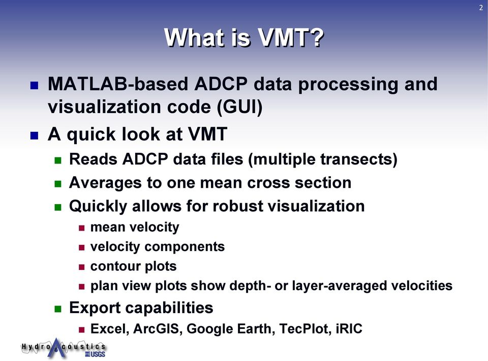 The Velocity Mapping Toolbox (VMT) - PDF