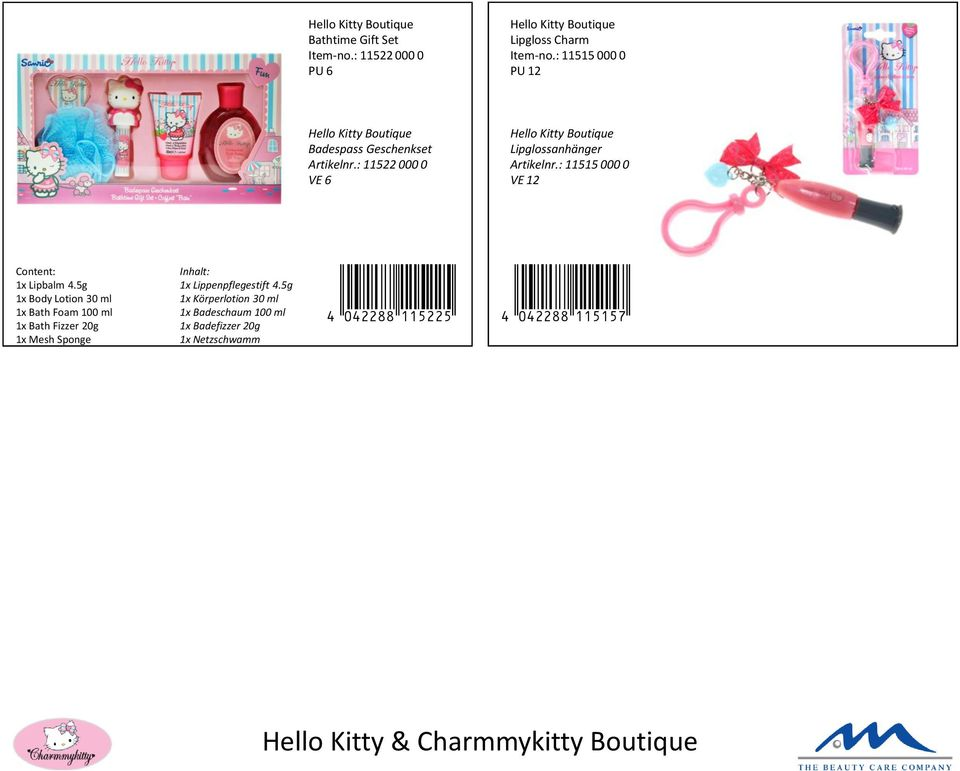 f05d39499 Hello Kitty Pink Love Bath Foam Figurine 300 ml Item-no.: PU 6. EDT ...