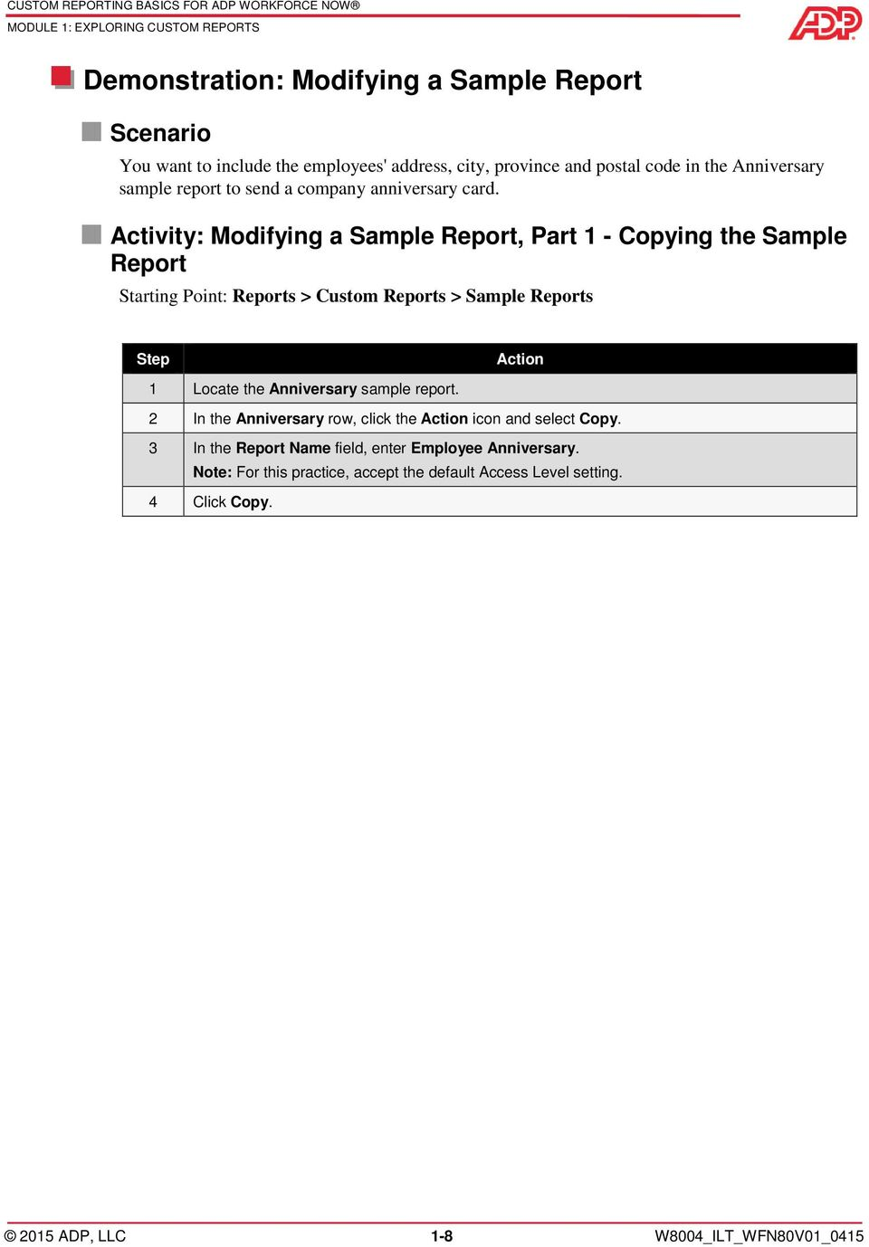 Custom Reporting Basics for ADP Workforce Now  Automatic