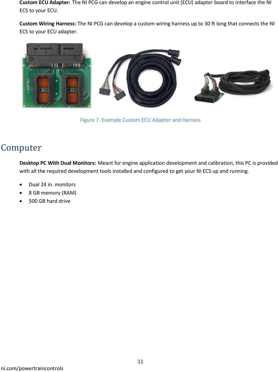 Ni Engine Control System Configuration Guide Pdf Custom Wiring Harness Ls M S2 Example Ecu Adapter And Computer Desktop Pc With Dual Monitors Meant For