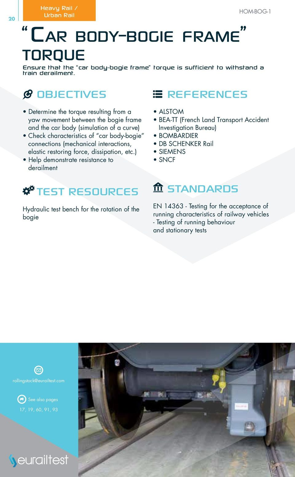Rail Expertise & Testing  Your 2014 Reference Guide IS O 9 1