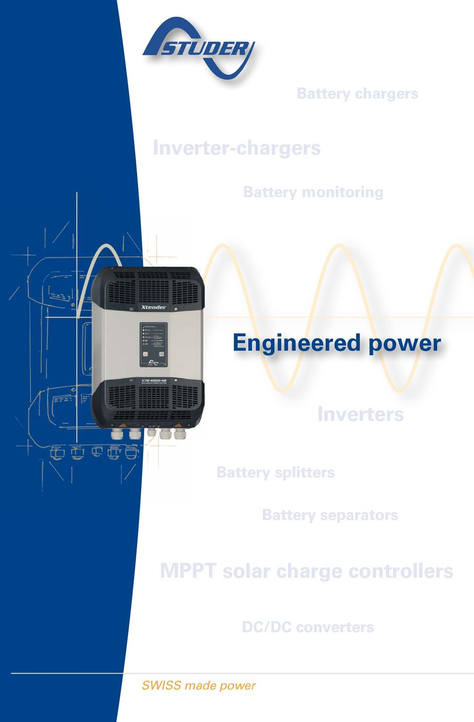 Engineered Power Inverter Chargers Inverters Mppt Solar Charge Controller 145v Open Circuit Voltage Controllers Converters Swiss Made Battery Splitters Separators