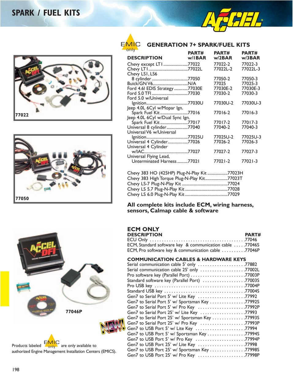 Accel Dfi Generation 7 Programmable Engine Management Systems Pdf Jeep Universal Wiring Harness 77030 2 3 Ford 50 W Ignition