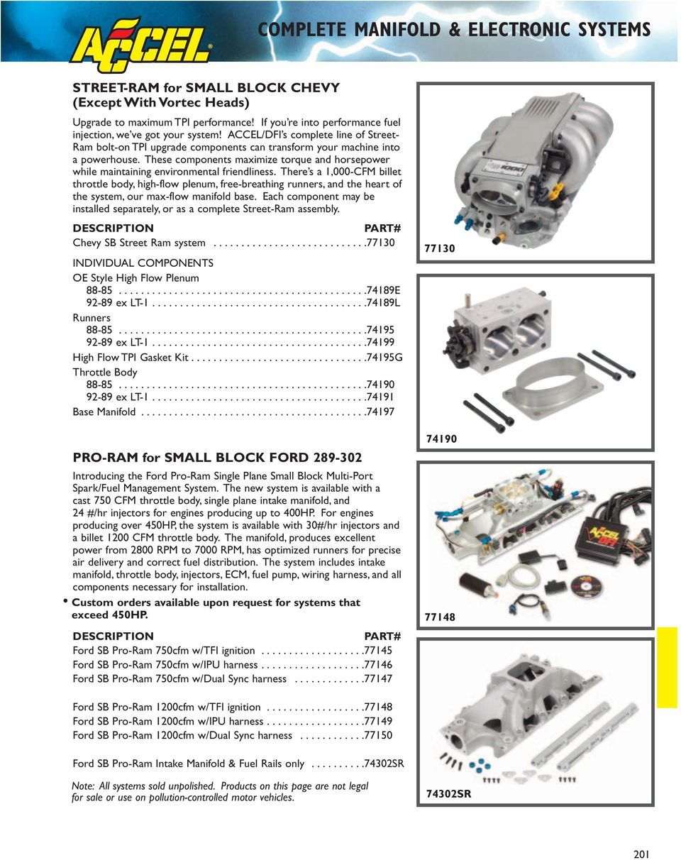 Accel Dfi Generation 7 Programmable Engine Management Systems Pdf Buick 3 1 Diagram Intake These Components Maximize Torque And Horsepower While Maintaining Environmental Friendliness