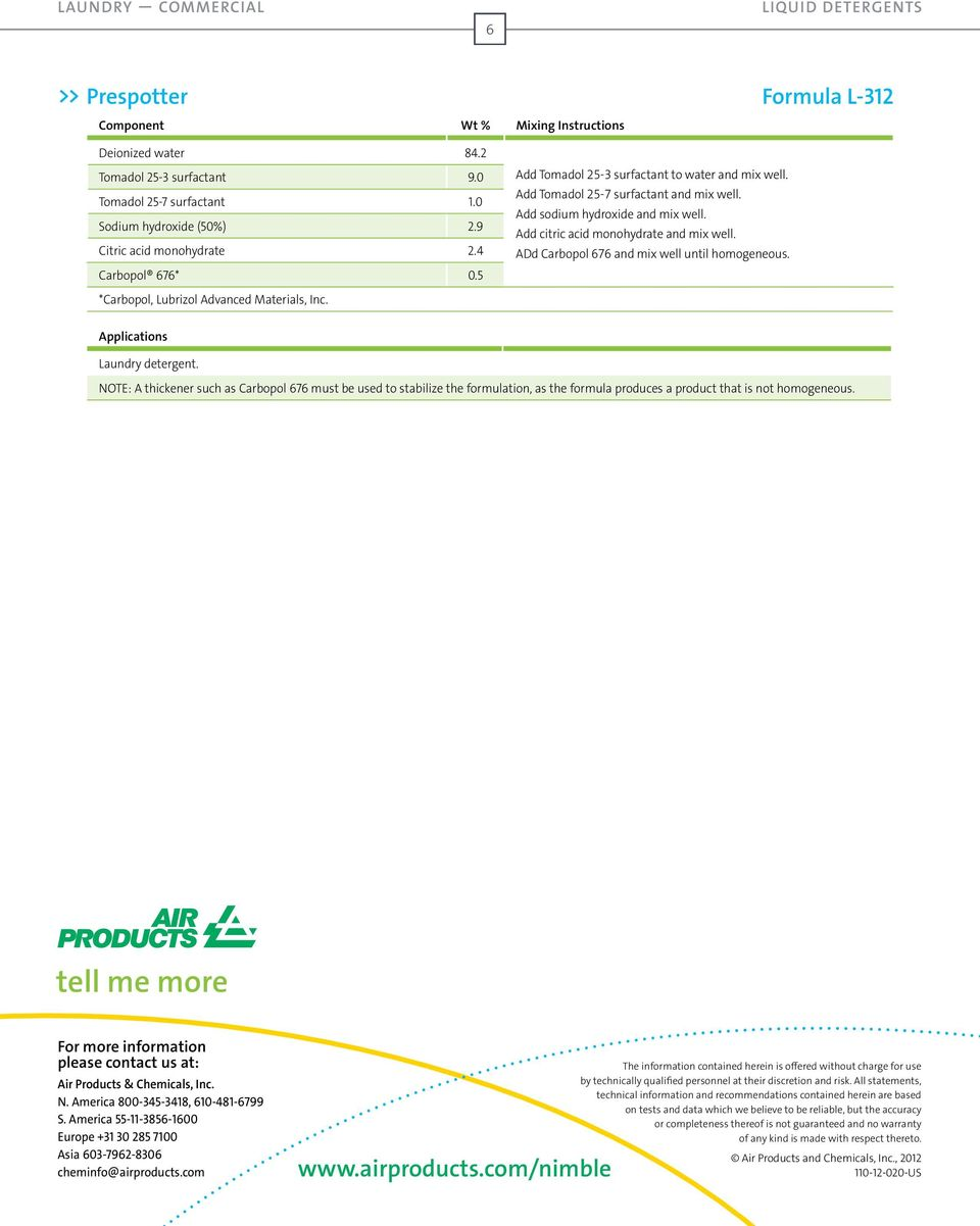 Industrial and Institutional Cleaning Formularies - PDF
